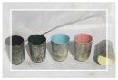 ceramic tumblers in various colours